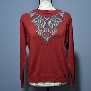 Vintage Red Boxy Sweater